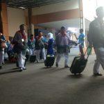 Calon haji, rombongan calon haji Provinsi Jawa Barat, Calon haji berangkat dari embarkasi bekasiadari asrama haji kota bekasi