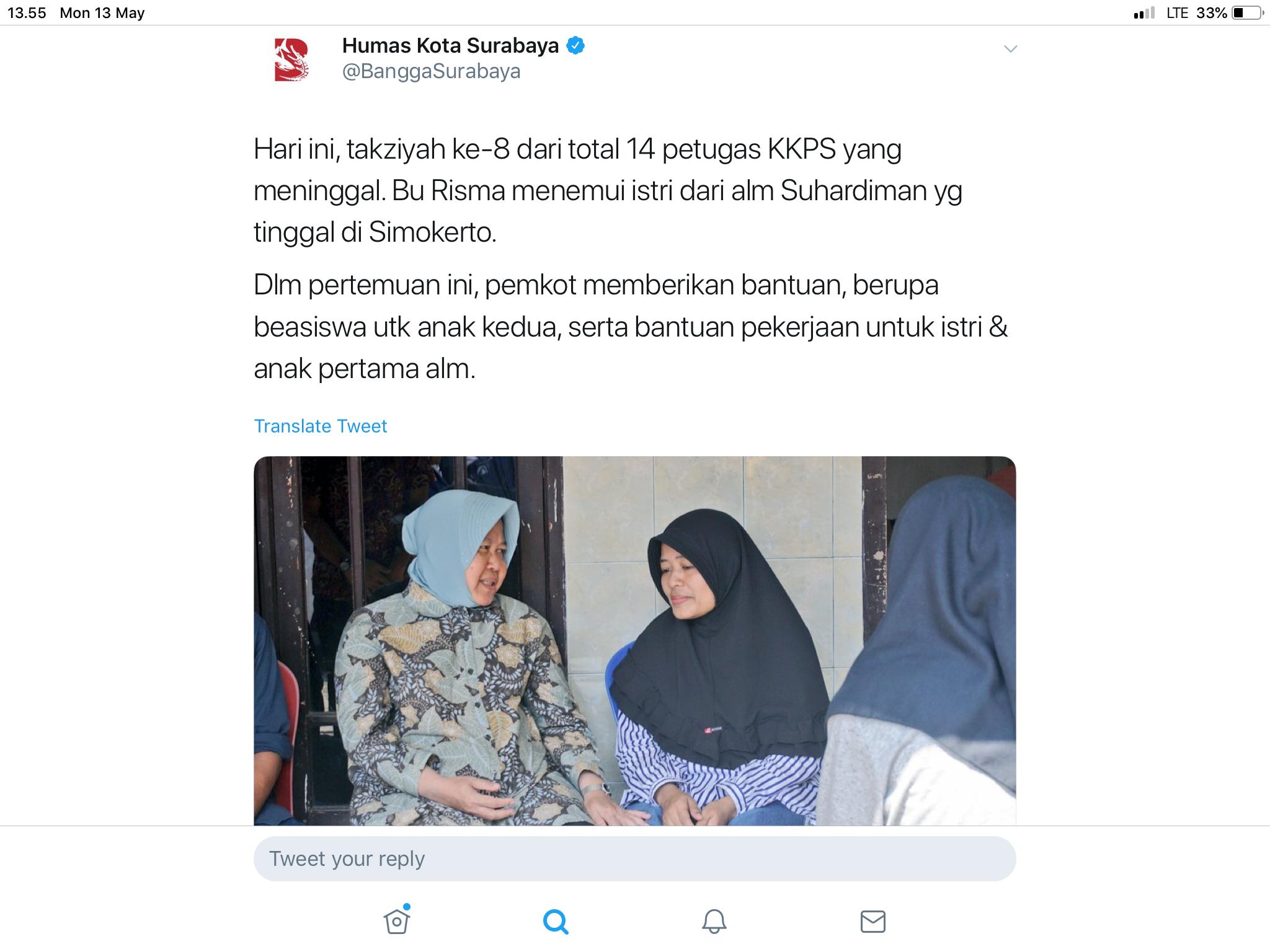 Cara Pemkot Surabaya Santuni Keluarga KPPS yang Meninggal Diapresiasi
